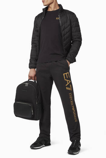 hover state of EA7 Cotton Sweatpants