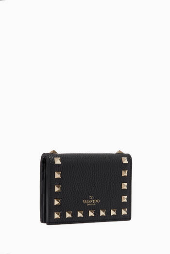 hover state of Rockstud Grainy Leather Wallet