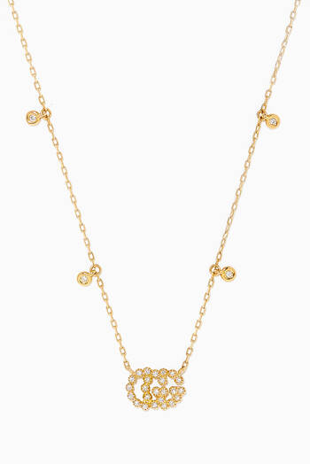 hover state of Yellow-Gold & Diamond Double G Necklace