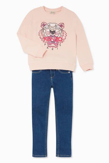 hover state of Tiger Print Pink Sweatshirt