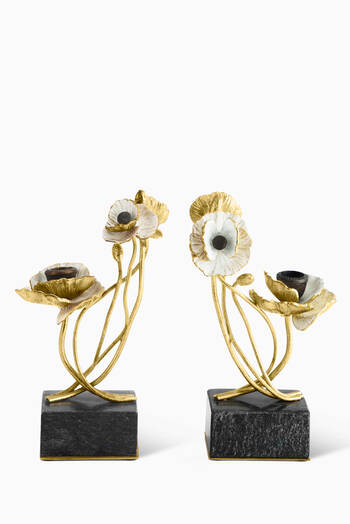 hover state of Anemone Candle Holders, Set of Two