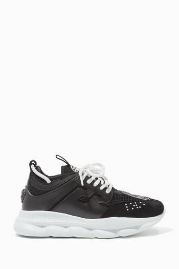 hover state of Chain Reaction Leather Sneakers
