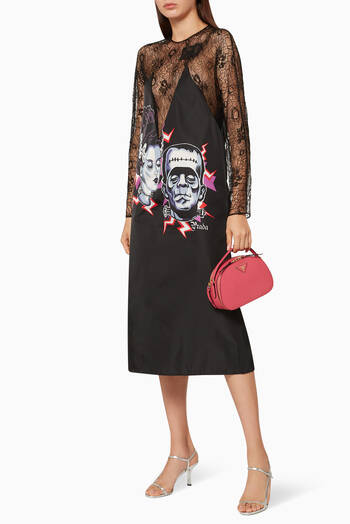 hover state of Couple Frankenstein Print Lace Dress