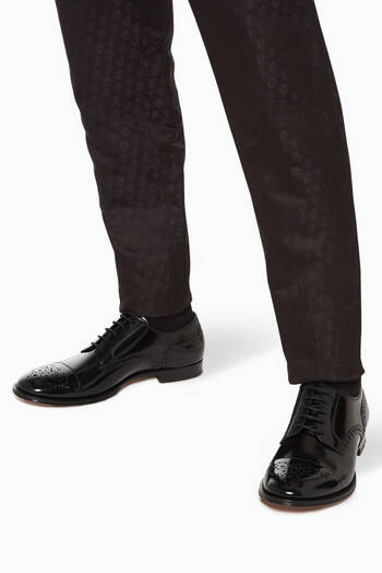 hover state of Patent Leather Brogue Derby Shoes