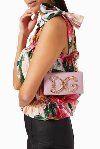 hover state of DG Girls Phone Bag in Leather