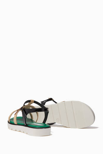 hover state of Tucano Patch T-Strap Sandals