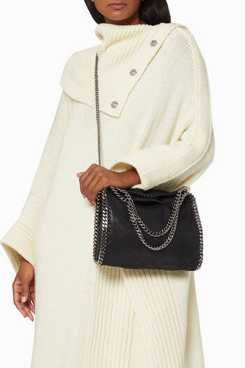 hover state of Mini Falabella Tote Bag in Shaggy Deer