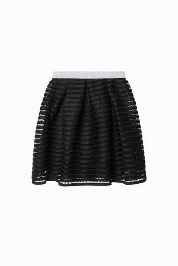 hover state of Striped Mesh Skirt