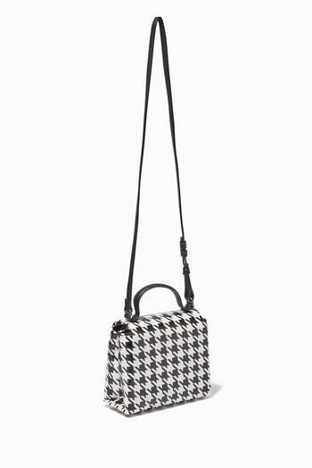hover state of Houndstooth Crossbody Bag in Eco Leather
