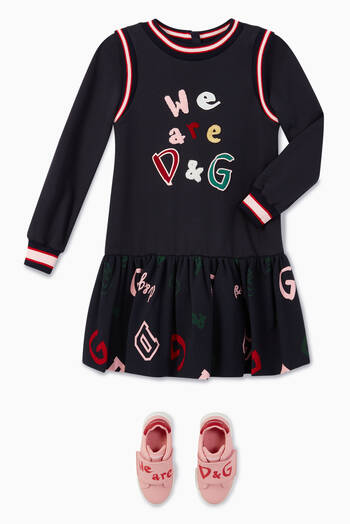 hover state of D&G Patch Jersey Dress