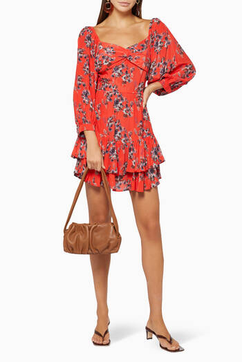 hover state of Riane Floral Mini Dress