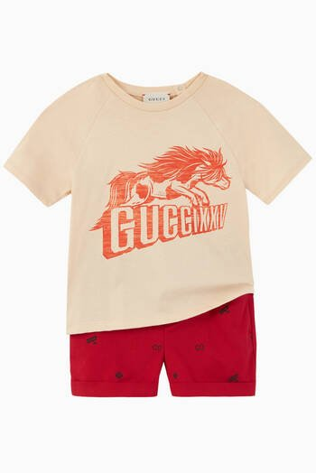 hover state of Gucci XXV Horse Print T-Shirt