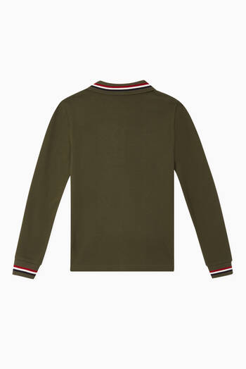 hover state of Long Sleeved Polo Shirt