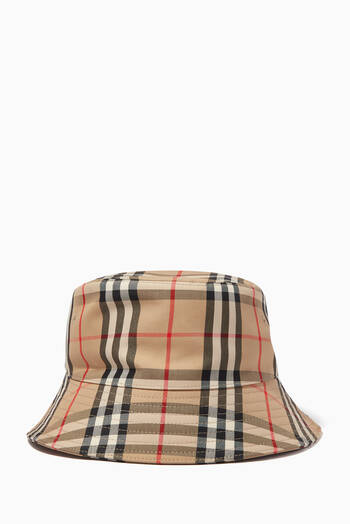 hover state of Bucket Hat in Vintage Check Cotton Blend