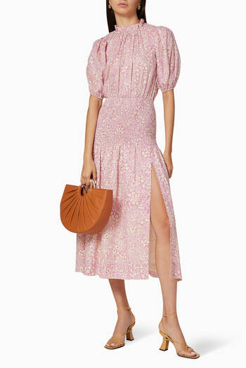 hover state of Emmanuelle Cotton Midi Dress