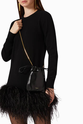 hover state of Teddy Bucket Bag in Leather