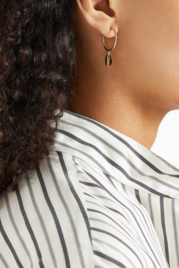 hover state of Shell Hoop Earrings