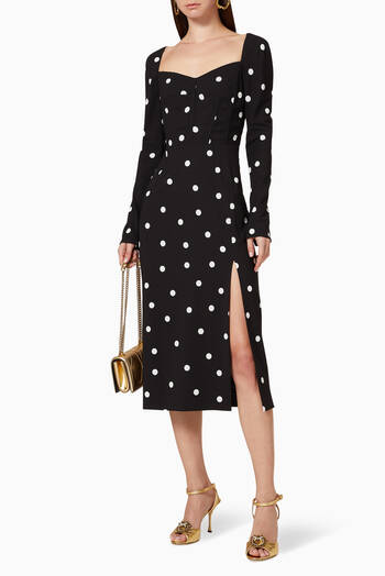 hover state of Polka Dot Midi Dress