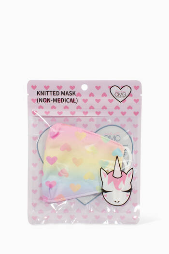 hover state of Ombre Heart Printed Face Mask