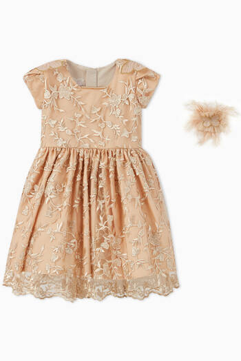 hover state of Floral Lace Tulle Dress