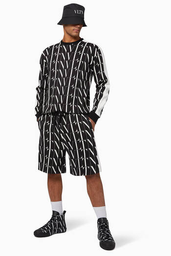 hover state of VLTN TIMES Jersey Bermuda Shorts