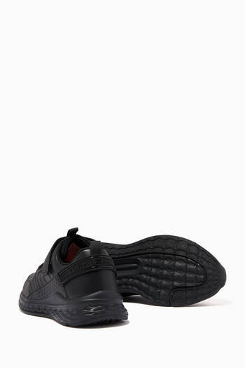 hover state of Lace-Up Low Top Sneakers in Faux Leather