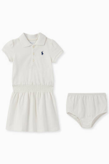 hover state of Cotton Mesh Polo Dress Set