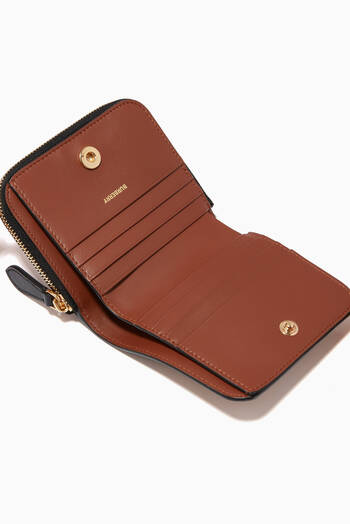 hover state of Leather Folding Wallet in Icon Stripe E-Canvas