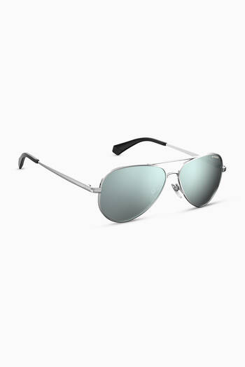 hover state of PLD 8015/N Aviator Sunglasses 50 in Palladium Metal
