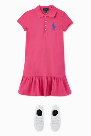 hover state of Big Pony Mesh Polo Dress
