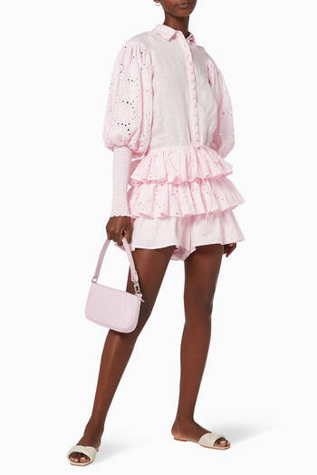 hover state of Sarina Linen Playsuit