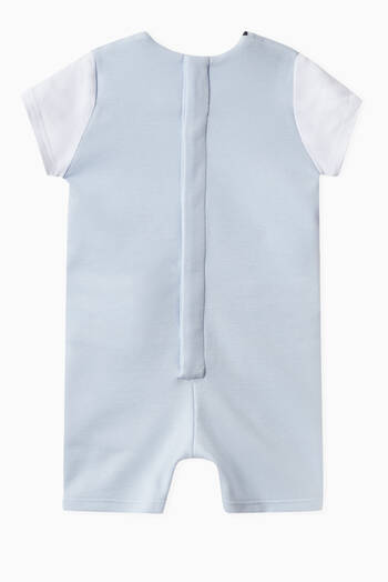 hover state of Gilet Romper in Cotton Blend