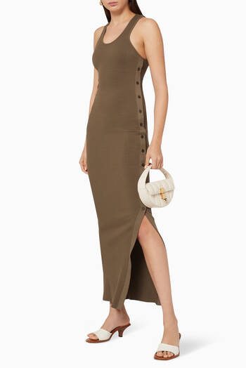 hover state of Button Ribbed Dress