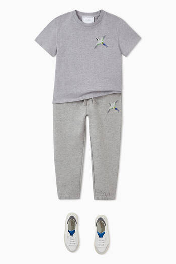 hover state of Metallic Bee Bird Sweatpants