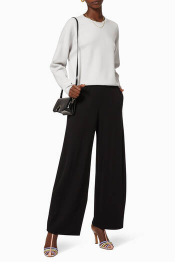 hover state of Wide-Leg Crepe Trousers
