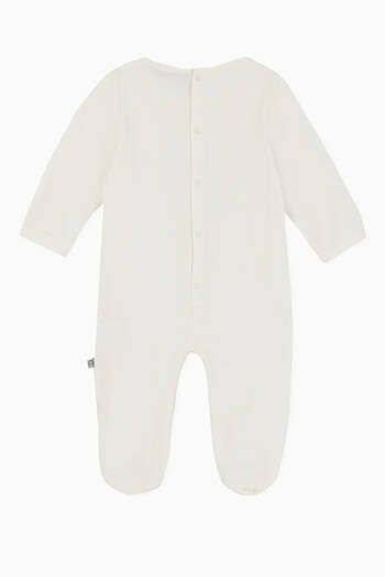 hover state of Laurel Logo Pima Cotton Jersey Babygrow