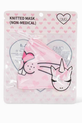hover state of Miss Kiki Bunny Hearts Face Mask