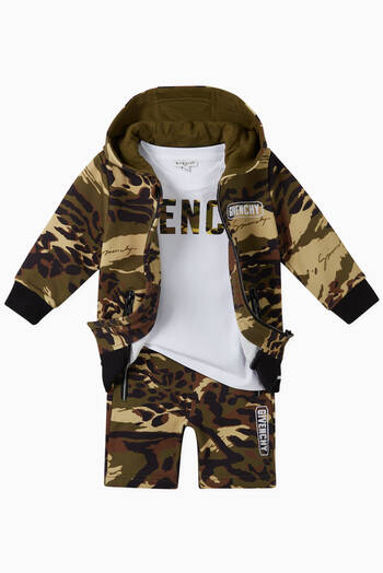 hover state of Camo Cotton Jersey Hoodie