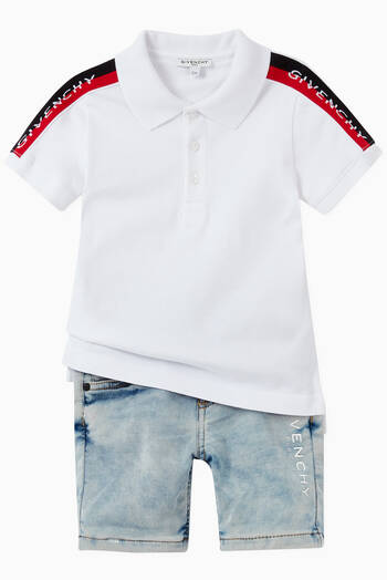 hover state of Givenchy Logo Tape Polo Shirt