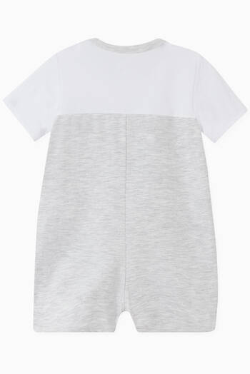 hover state of Logo Romper in Cotton Jersey