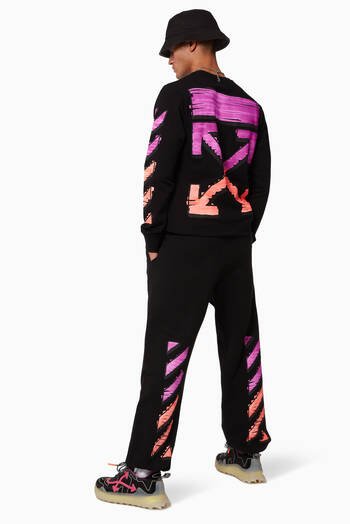 hover state of Marker Diagonal Cotton Sweatpants