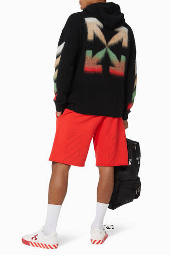 hover state of Diagonal Cotton Sweatshorts