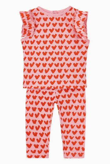hover state of Hearts Organic Cotton Leggings