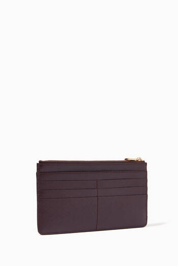 hover state of Large Card Case with DG Plate in Dauphine Leather