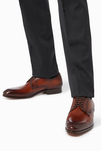 hover state of Derby Lace-Up Shoes in Calf Leather