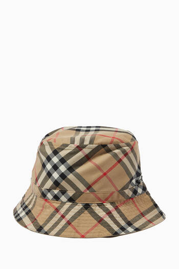 hover state of Bucket Hat in Vintage Check Cotton