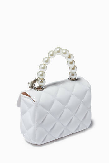 hover state of Quilted Pearl Handbag