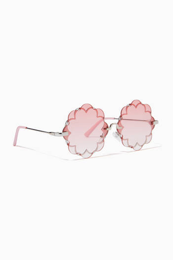 hover state of Double Lens Flower Sunglasses