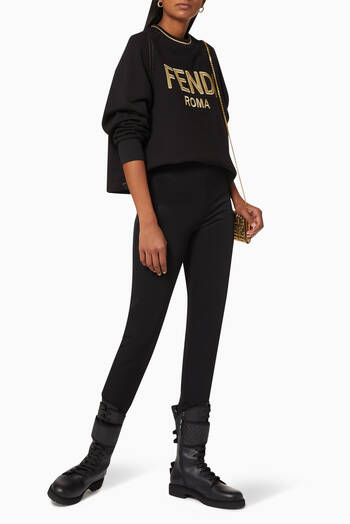 hover state of FENDI ROMA Jersey Cropped Sweatshirt