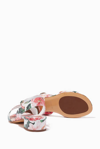 hover state of Sandals with Ankle Strap in Camellia Nappa